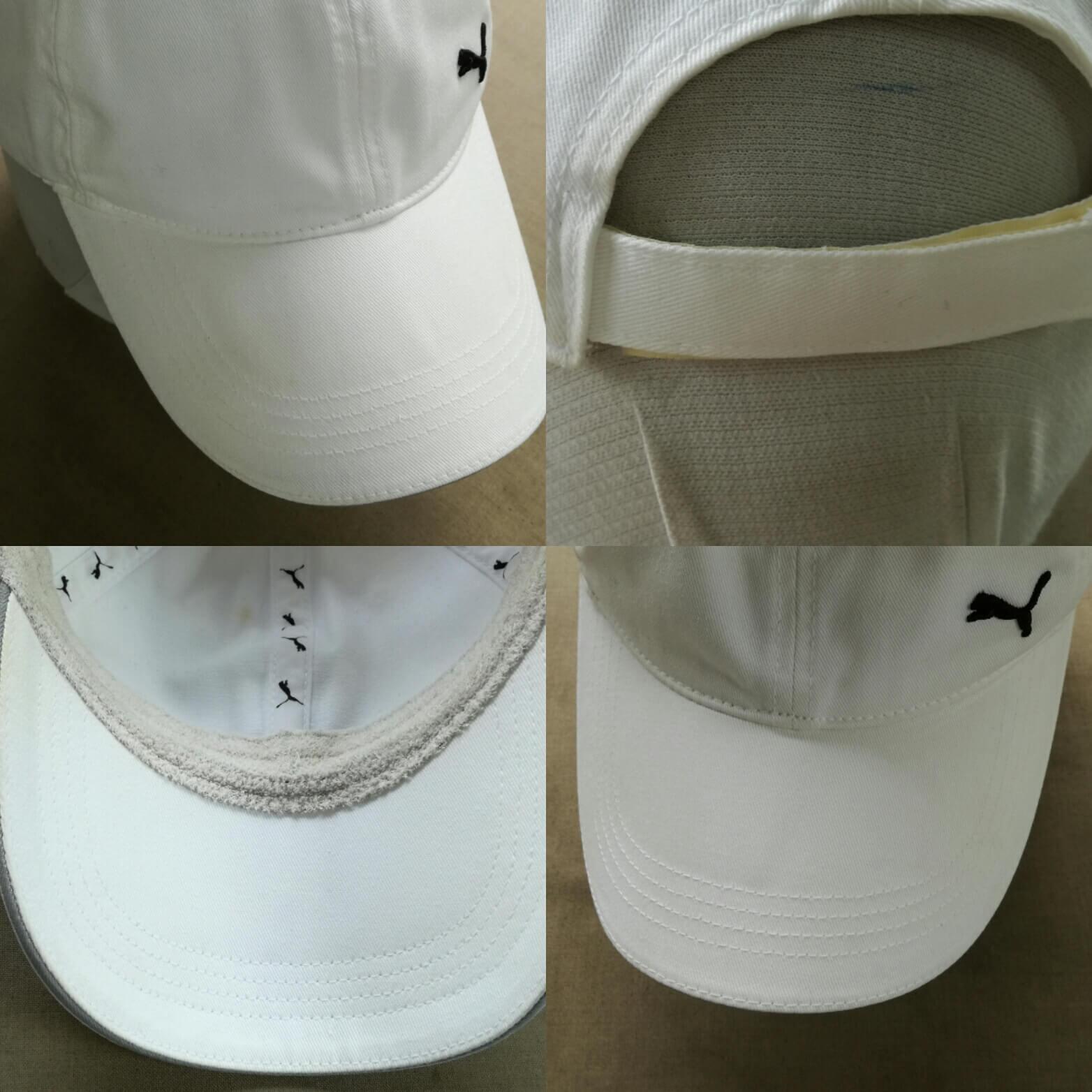 帽子のシミ抜き後、真っ白に復元